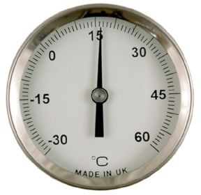 Magnetic-mounting dial thermometer